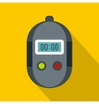 Stopwatch icon flat style vector image vector image