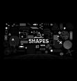 stylish geometric shapes neo memphis design vector image vector image