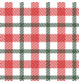 tartan green red seamless pattern vector image