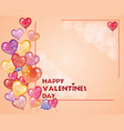 valentines day post card 10 vector image vector image