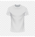 white tshirt mockup realistic style vector image vector image