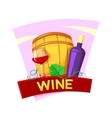 Wine concept design vector image