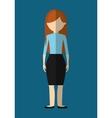 woman faceless avatar icon image