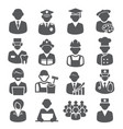 workers and professional icons on white background vector image