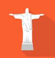 statue of jesus cartoon flat icon brazil rio vector image