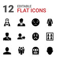12 avatar icons vector image vector image