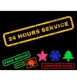 24 Hours Service Rubber Stamp vector image vector image
