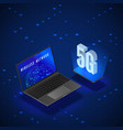 5g wireless network systems mobile internet vector image