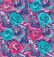 abstract decorative vintage vivid wave and flowers vector image