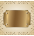 abstract precious metal golden award plate vector image vector image