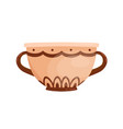 ancient greek clay pot with handles flat vector image