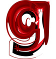 Artistic font letter g vector image vector image