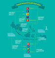 Asean nations infographic vector image