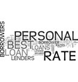 best rate personal loans one of the most sought vector image vector image