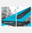 blue annual report cover design template with vector image vector image