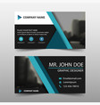 blue triangle corporate business card name card vector image vector image