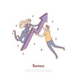businesswoman and man working together vector image