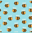 cartoon color bee background pattern vector image