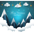 cartoon paper landscape merry christmas happy vector image