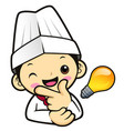 chef character is a great idea rushed upon my vector image vector image