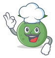 chef guava character cartoon style vector image vector image