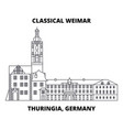 classical weimar thuringia germany line icon vector image