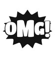 comic boom omg icon simple black style vector image vector image