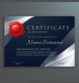 dark certificate template design with silver vector image vector image