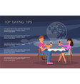 dating tips landing page website template vector image vector image