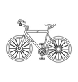 detailed bike icon vector image vector image