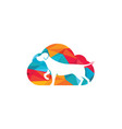 dog and cloud icon logo design vector image vector image
