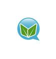 eco think logo vector image