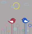 Fancy birds vector image vector image