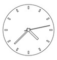 fine clock icon outline style vector image