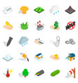 fire icons set isometric style vector image vector image
