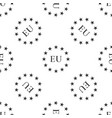 flag of european union icon seamless pattern vector image vector image