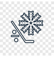 freeze concept linear icon isolated on vector image