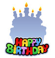 happy birthday theme 2 vector image
