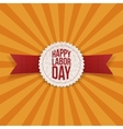 Happy Labor Day realistic Holiday Label vector image vector image