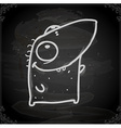 Happy Monster Drawing on Chalk Board vector image vector image