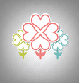 heart tree symbol vector image