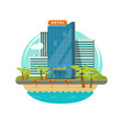 hotel isolated near sea or seafront resort view vector image vector image