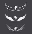 image an eagle design on black background vector image