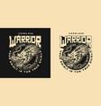 japanese martial arts vintage badge vector image
