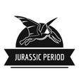 jurassic cute logo simple black style vector image vector image