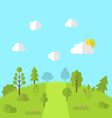 Landscape woods valley hill forest land scene view vector image vector image