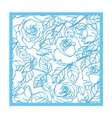 Laser cut rose ornament Cutout pattern vector image vector image
