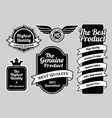 limited edition highest quality badges vector image vector image