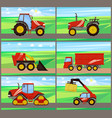 loader and tractor agriculture vector image