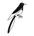 magpie icon simple style vector image
